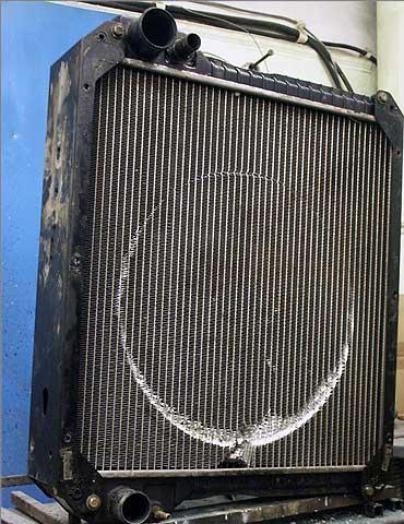 Радиатор до ремонта